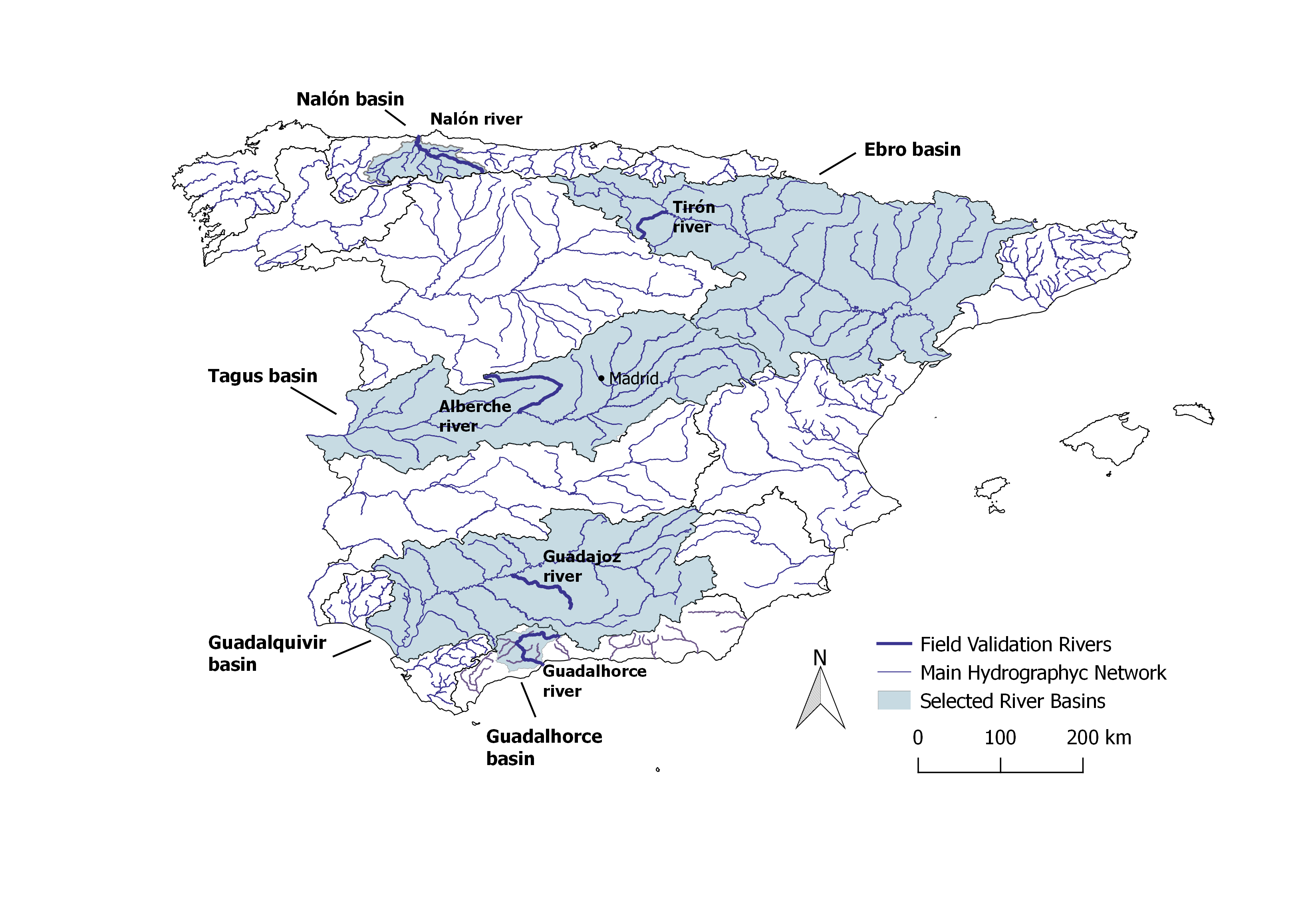 Map Of Spain Ebro River.Results Of The Field Validation In Spain 100 Obstacles In 100 Km Of