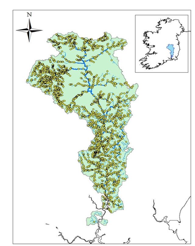 Fig- Potential barriers in the Barrow catchment (n=2928)
