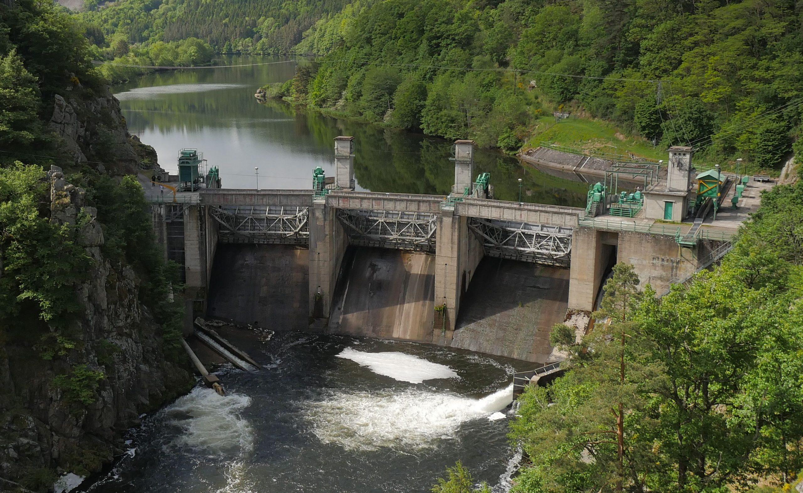 Poutès Dam, River Allier, France