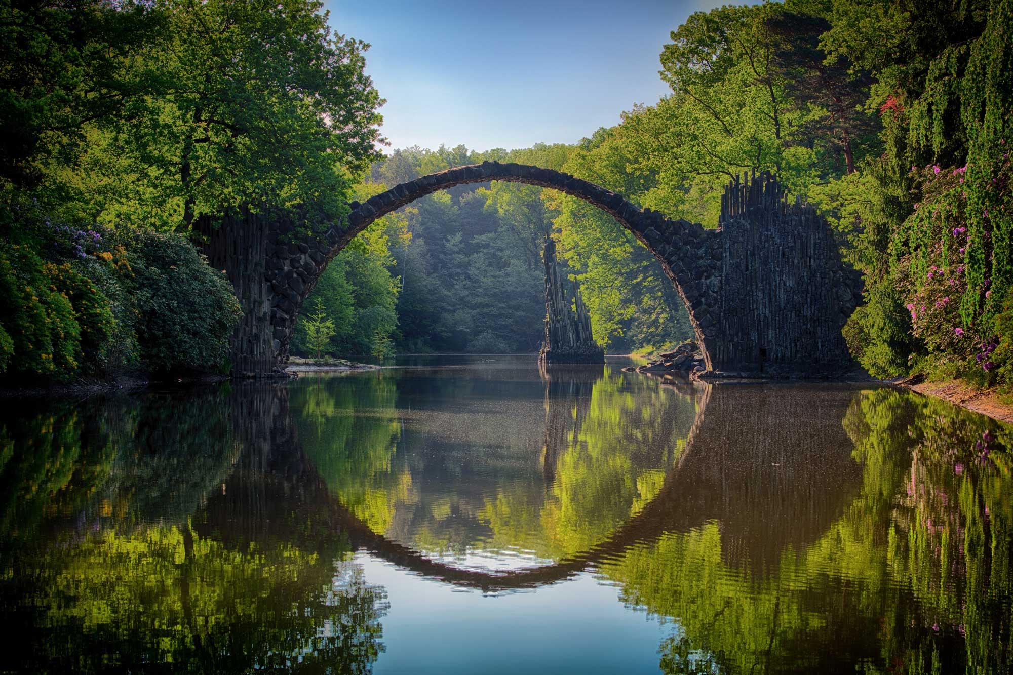 gray-bridge-and-trees-814499